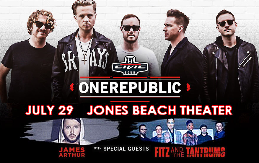 Onerepublic Honda Civic Tour Jones Beach